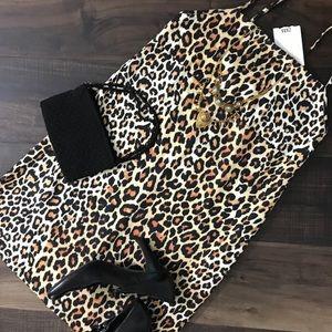 Zara slip on cheetah print dress
